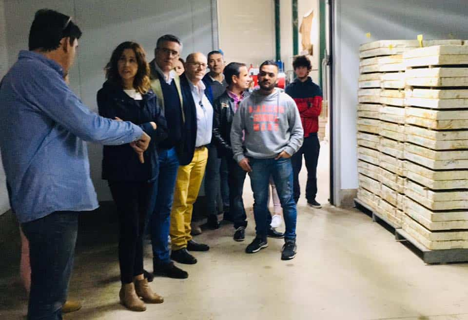 Rosa Romero visita una empresa de Herencia 7
