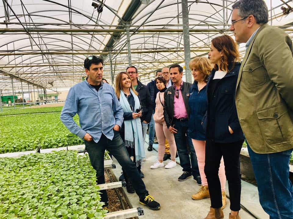 Rosa Romero visita una empresa de Herencia 2