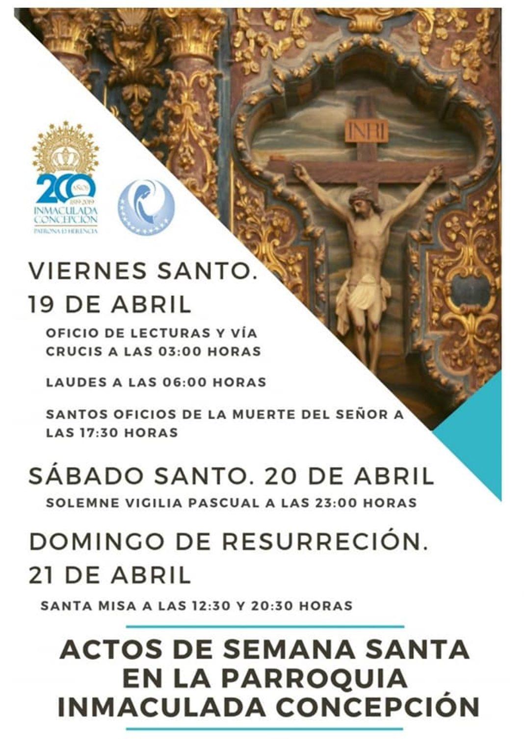 Celebraciones de Semana Santa en la iglesia parroquial de la Inmaculada 4