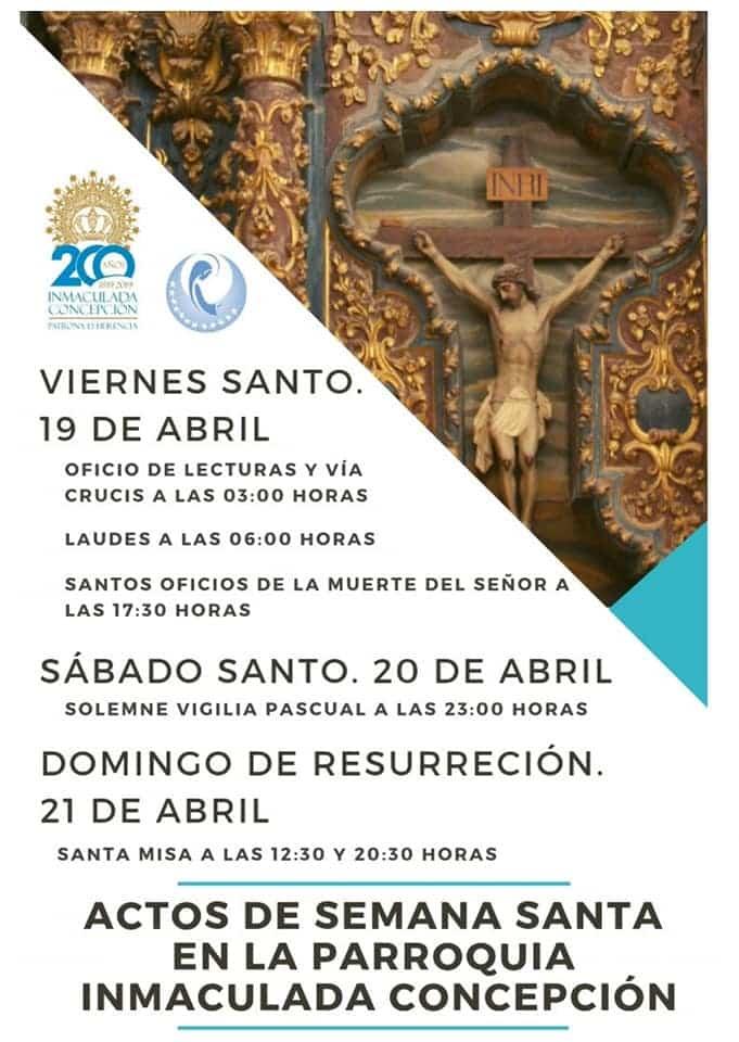 celebraciones parroquiales de Semana Santa2 - Celebraciones de Semana Santa en la iglesia parroquial de la Inmaculada