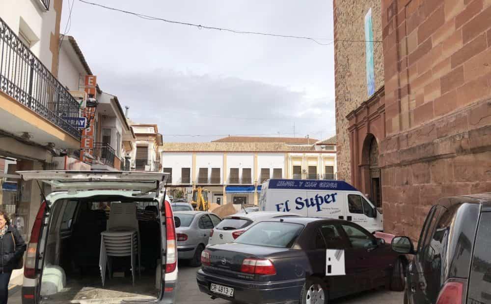 continuan obras plaza espana y calles en herencia 19 1000x618 - Continuan los obras de la Plaza de España y alrededores