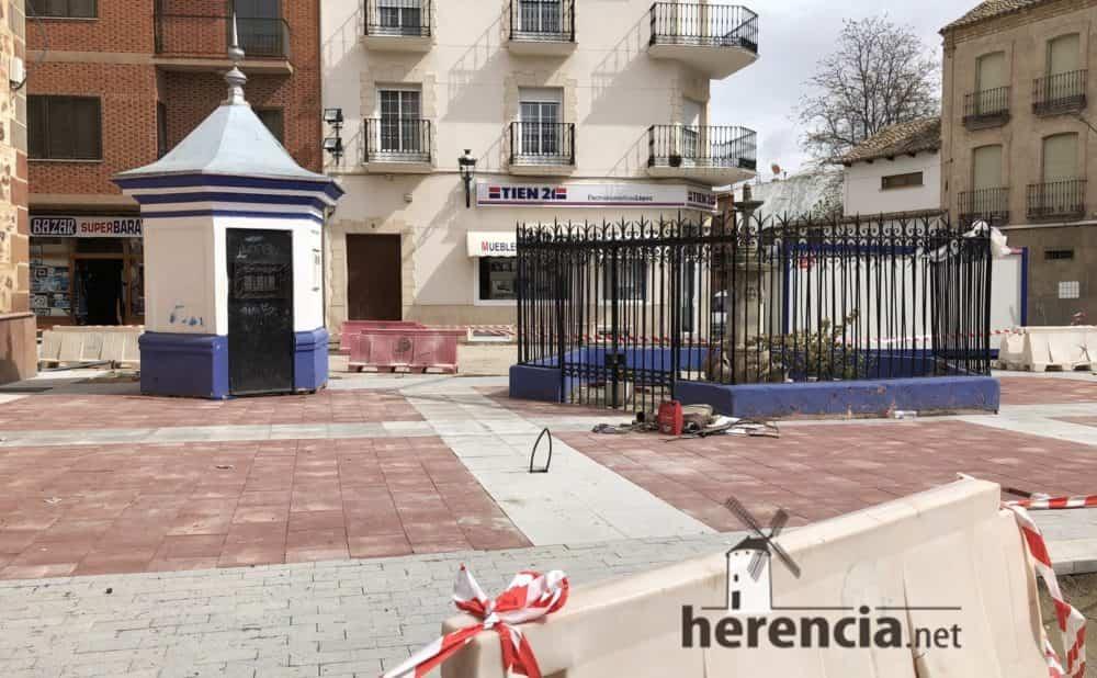 continuan obras plaza espana y calles en herencia 5 1000x618 - Continuan los obras de la Plaza de España y alrededores