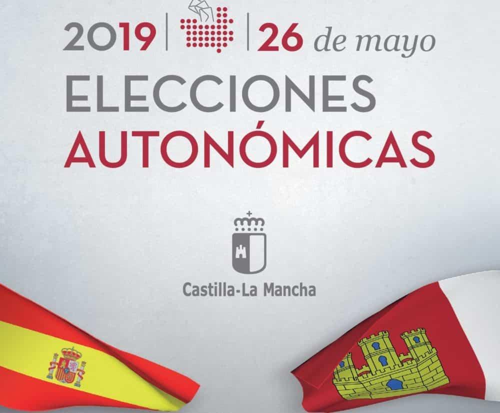 elecciones autonomica castilla la mancha 2019 1000x826 - El voto por correo para las elecciones a las Cortes de Castilla-La Mancha se puede solicitar hasta el 16 de mayo