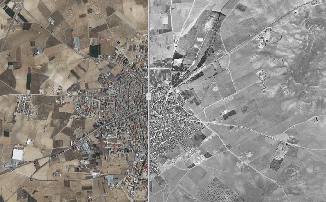 Conoce como era Herencia con el comparador histórico de ortofotos de Castilla-La Mancha 2