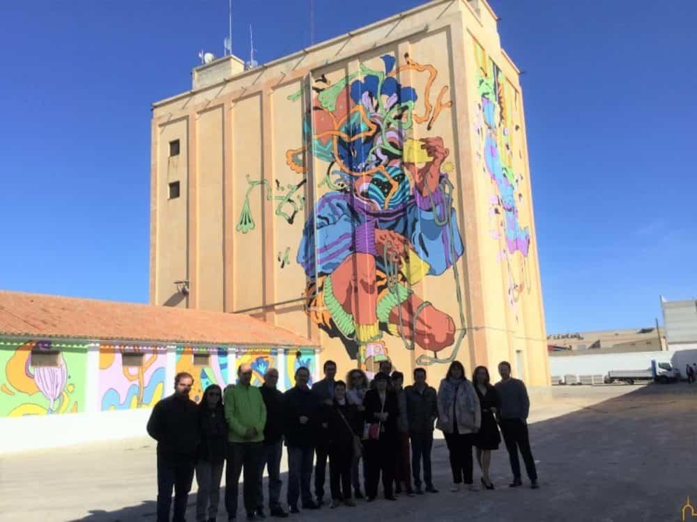 Herencia recupera los silos e implica a personas con capacidades diferentes en un proyecto de arte mural sin precedentes