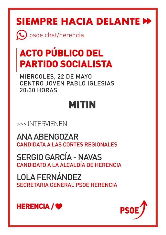 Acto público del partido socialista de Herencia - Mitin público del partido socialista de Herencia