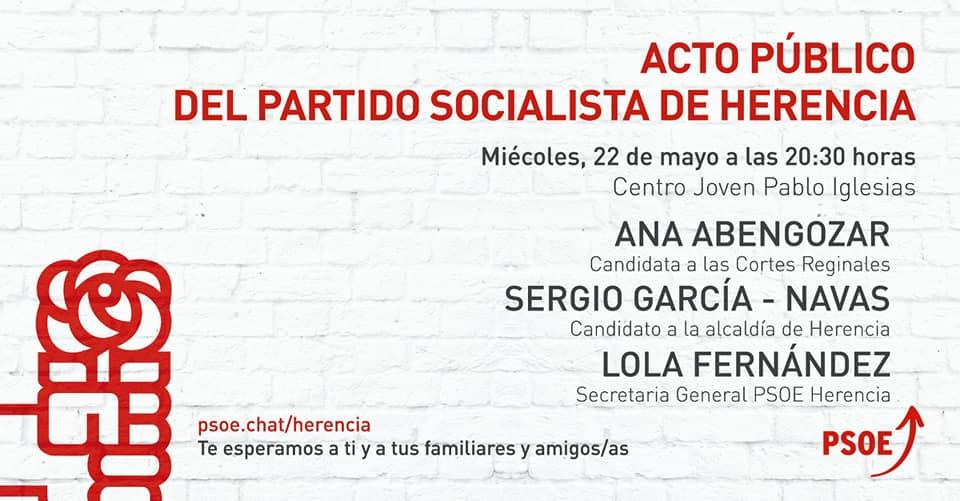 Acto p%C3%BAblico del partido socialista de Herencia1 - Mitin público del partido socialista de Herencia
