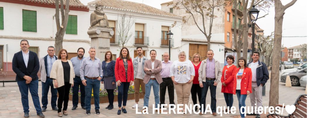 CANDIDATURA HERENCIA 2019 1068x406 - La participación vecinal, eje vertebrador del programa con el que el PSOE de Herencia concurre a los comicios del domingo