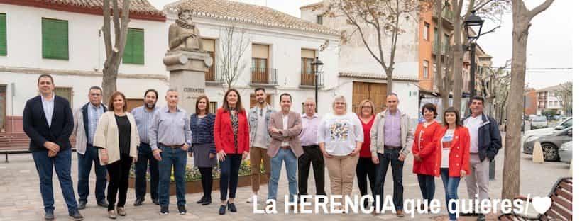 La participación vecinal, eje vertebrador del programa con el que el PSOE de Herencia concurre a los comicios del domingo 3