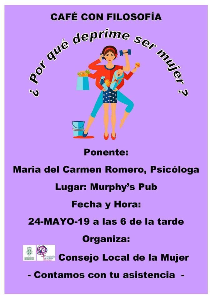 Café con filosofía consejo local de la mujer - El Consejo Local de la Mujer organiza un nuevo café con filosofía