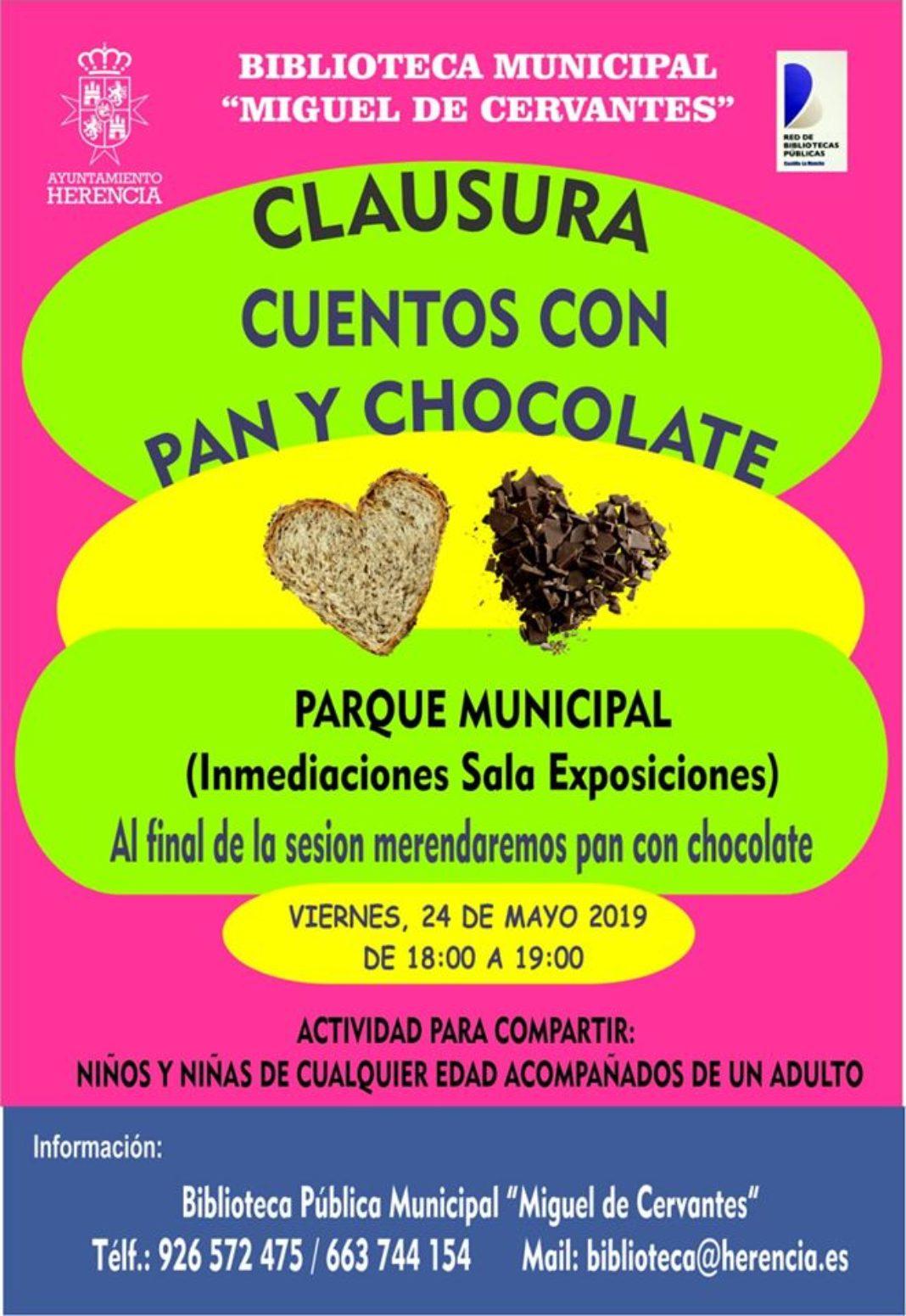 La biblioteca clausura una nueva temporada de Cuentos con Pan y Chocolate en el parque 4