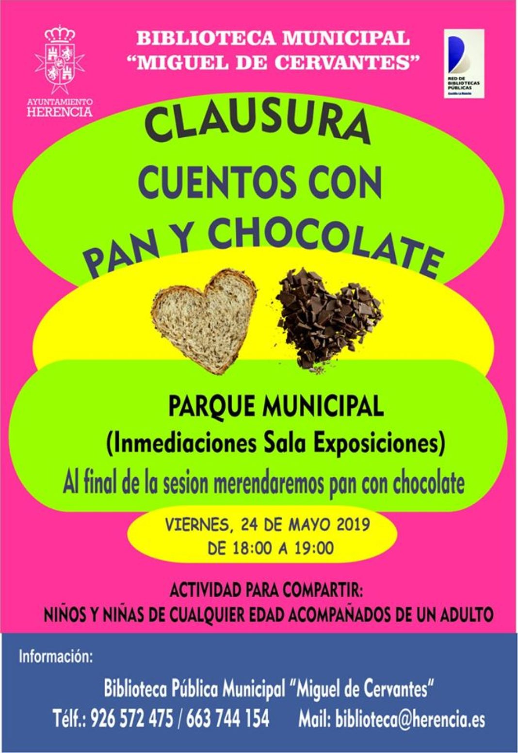 Cuentos con pan y chocolate 1068x1551 - La biblioteca clausura una nueva temporada de Cuentos con Pan y Chocolate en el parque