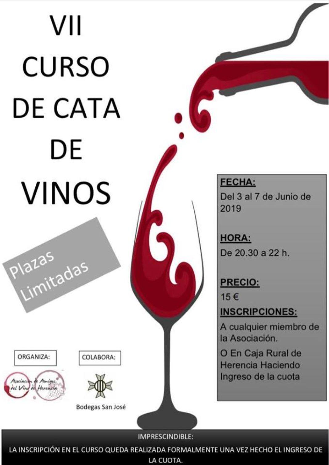 Curso Cata de Vinos 1068x1510 - Amigos del Vino de Herencia organizan su séptimo curso de cata de vinos