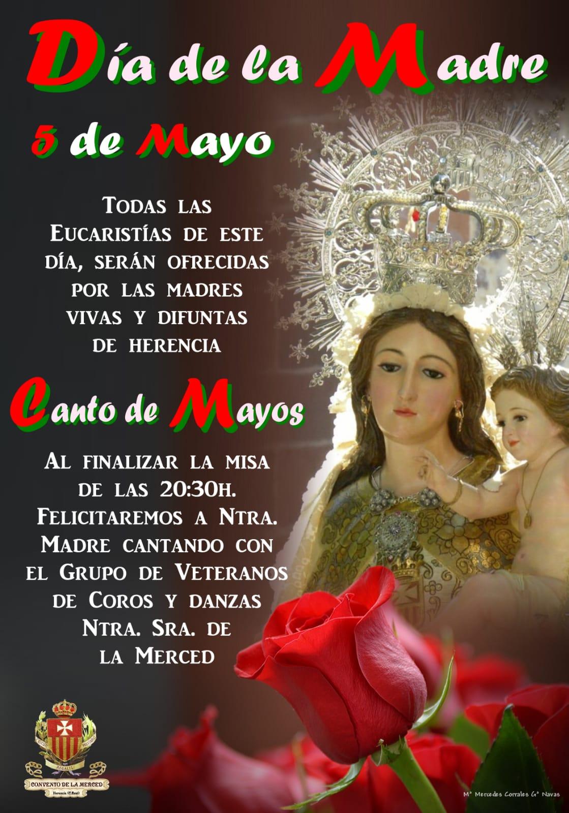Día de la Madre y Canto de mayos en La Merced - Celebraciones religiosas en la parroquia y el convento con motivo del Día de la Madre