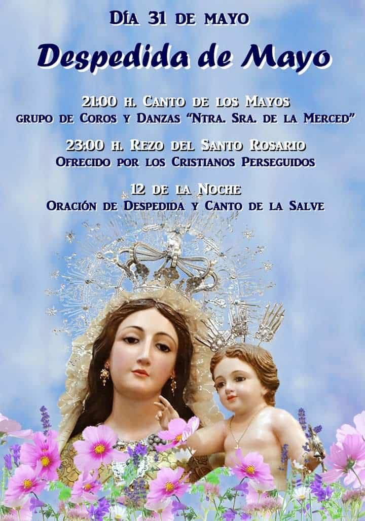 Desdepida de Mayo en el convento de La Merced - Despedida del mes de mayo en la iglesia conventual de La Merced