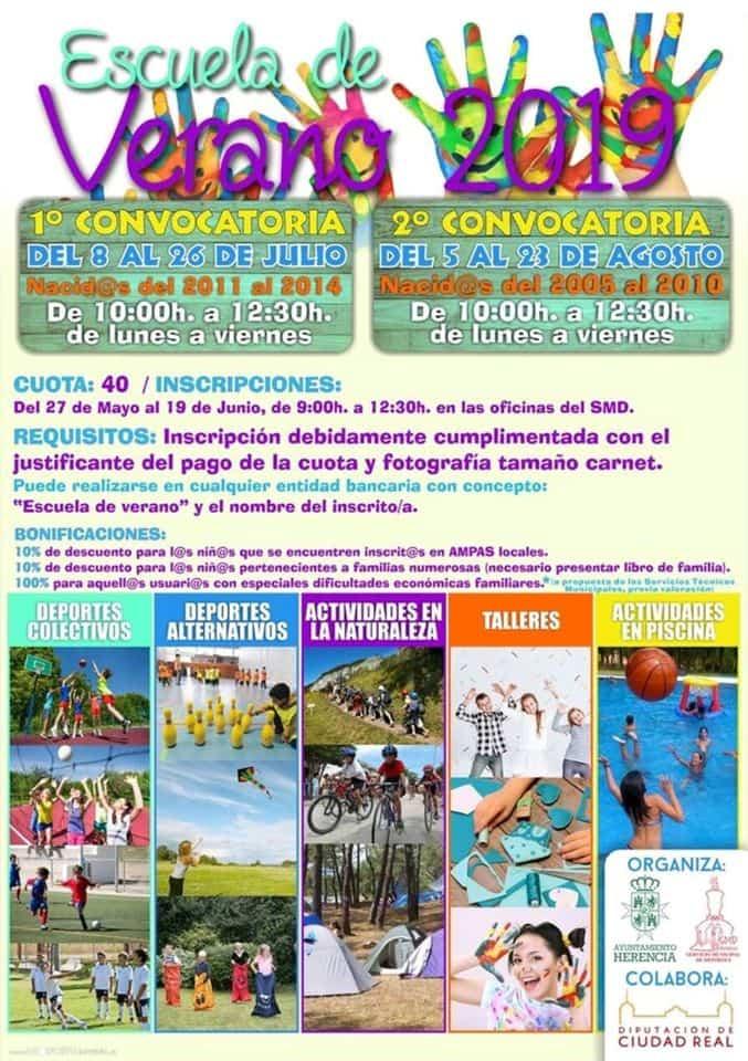 Escuela de Verano de Herencia - La Escuela de Verano abre inscripciones para facilitar la conciliación familiar durante las vacaciones