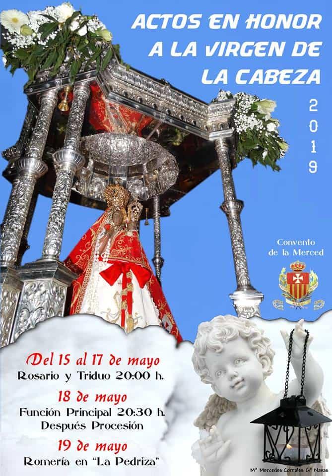 Festividad de la Virgen de la Cabeza en Herencia - Actos religiosos en honor a la Virgen de la Cabeza en el convento de La Merced