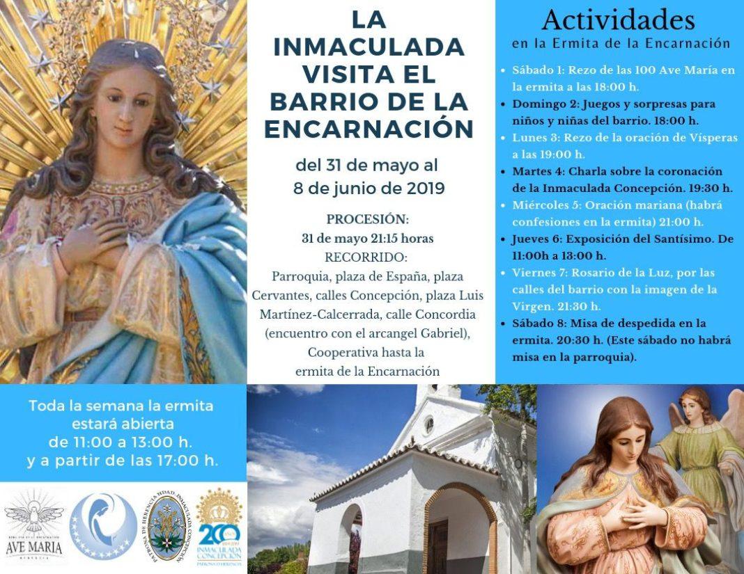 Inmaculada Encarnación 1068x825 - La imagen de la Inmaculada visita el barrio de la Encarnación