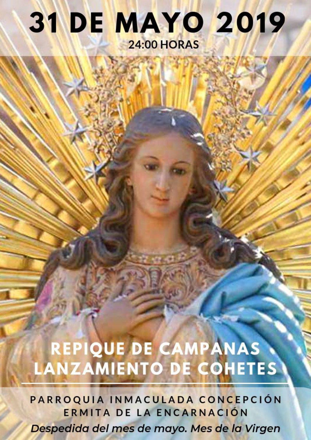 Mayo campanas 1068x1511 - Despedida del mes de mayo en la parroquia de la Inmaculada Concepción