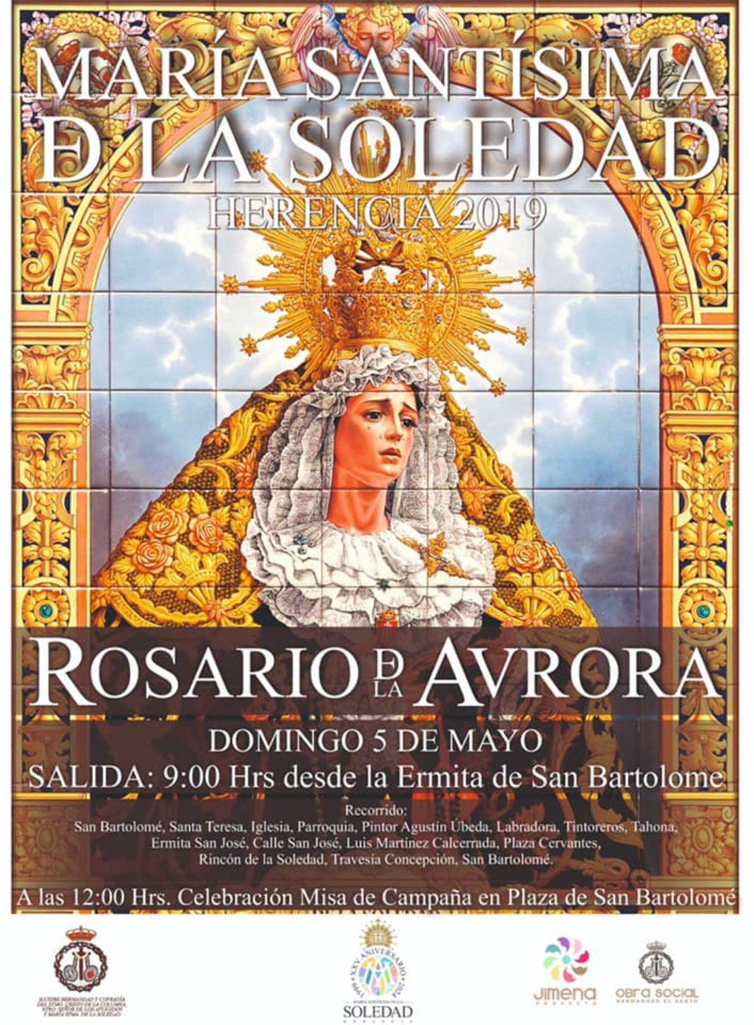 Rosario de la Aurora en honor a la Virgen de la Soledad 1068x1452 - Actos conmemorativos del 20 aniversario de la Virgen de la Soledad