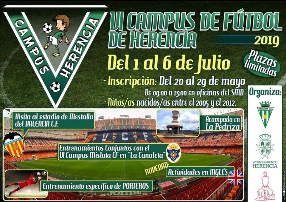 El miércoles 29 de mayo finaliza las inscripciones para el VI Campus de fútbol de Herencia 3