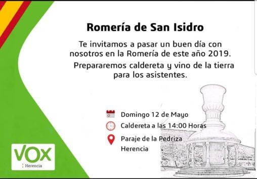 Vox herencia en la Romer%C3%ADa de San Isidro 508x354 - Vox Herencia junto a Ricardo Chamorro participan en la romería de San Isidro