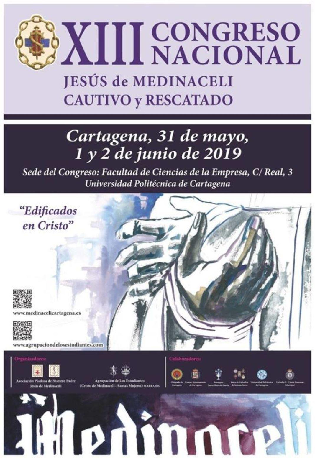 XIII Congreso Nacional de Jesús de Medinaceli Cautivo y Rescatado 1068x1553 - La hermandad de Jesús de Medinaceli asistirá al Congreso Nacional de Cartagena