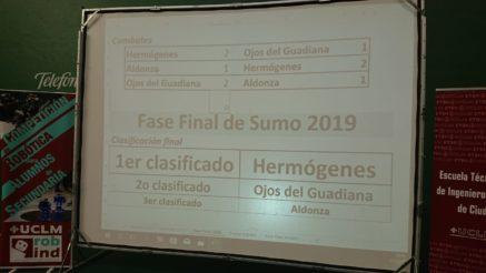 alumnos del Hermógenes en el Concurso de robótica UCLM1