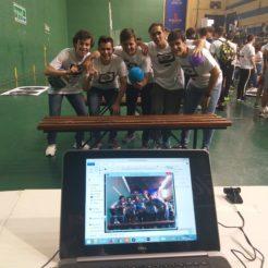 alumnos del Hermógenes en el Concurso de robótica UCLM2