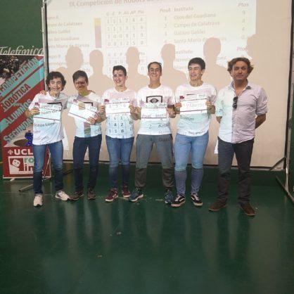 alumnos del Hermógenes en el Concurso de robótica UCLM3