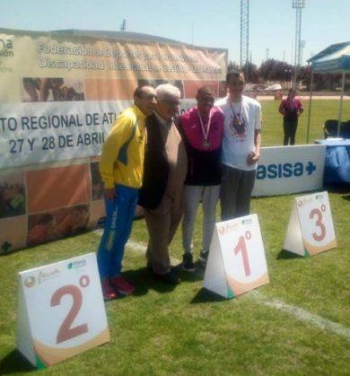 campeonato atletismo asodisal1 390x419 - El club deportivo Asodisal obtiene varias medallas el el Campeonato Regional de Atletismo de FECAM