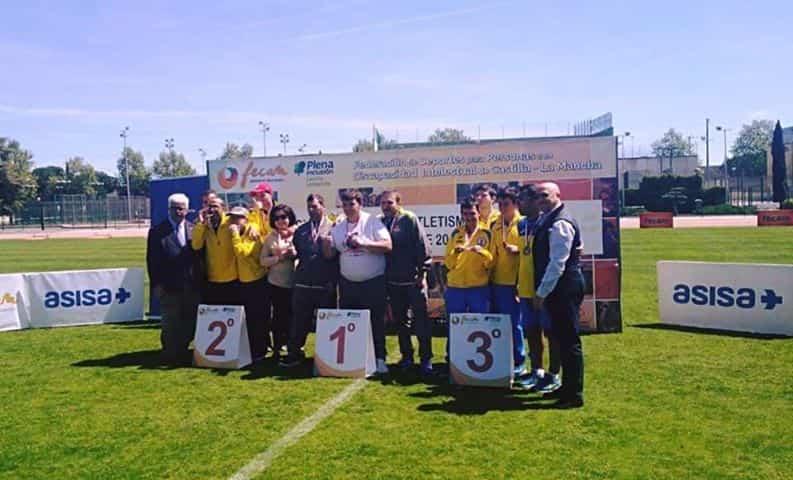 campeonato atletismo asodisal4 - El club deportivo Asodisal obtiene varias medallas el el Campeonato Regional de Atletismo de FECAM