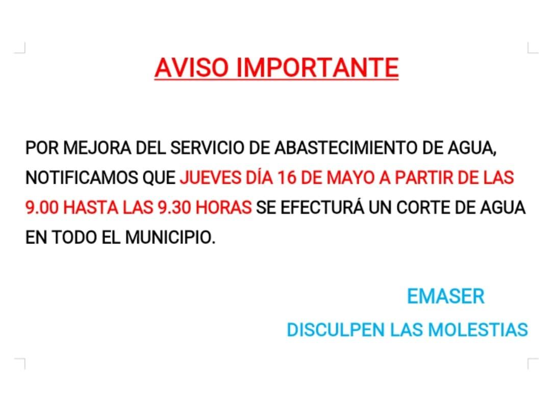 Corte de agua en toda Herencia por mejoras en el servicio 3