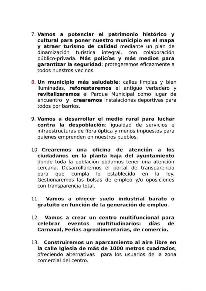 Cs Herencia presenta su decálogo de propuestas de cara a las elecciones municipales 6