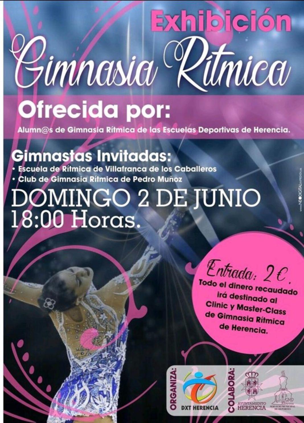 exhibición de gimnasia rítimica 1068x1486 - El polideportivo municipal acogerá una exhibición de gimnasia rítmica