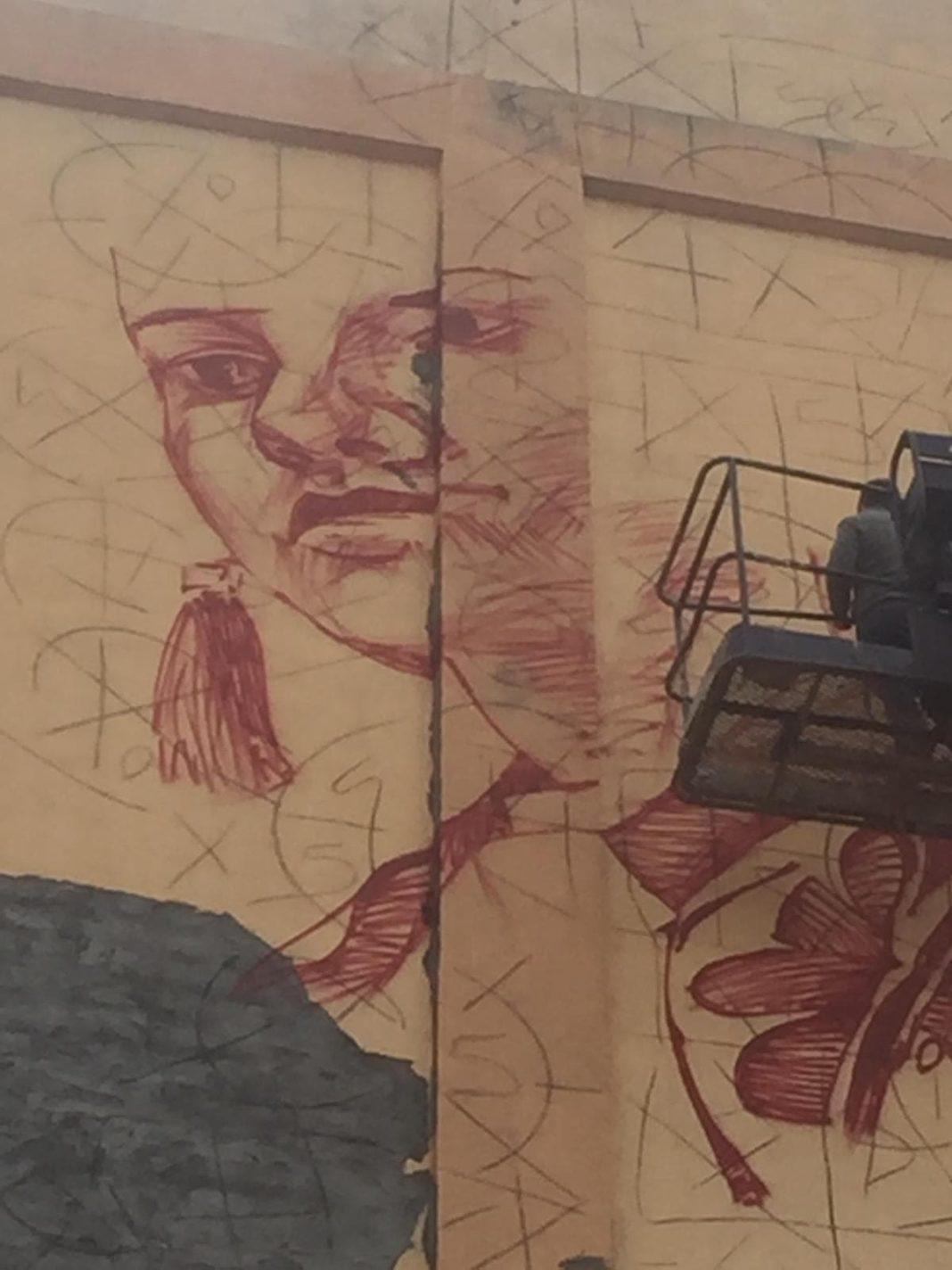 """El proyecto """"Titanes"""" da sus primeras pinceladas en el silo de Herencia 4"""