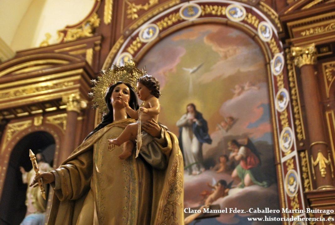 virgen de las merced de la finca de los frailes 1068x716 - Celebraciones religiosas en la parroquia y el convento con motivo del Día de la Madre