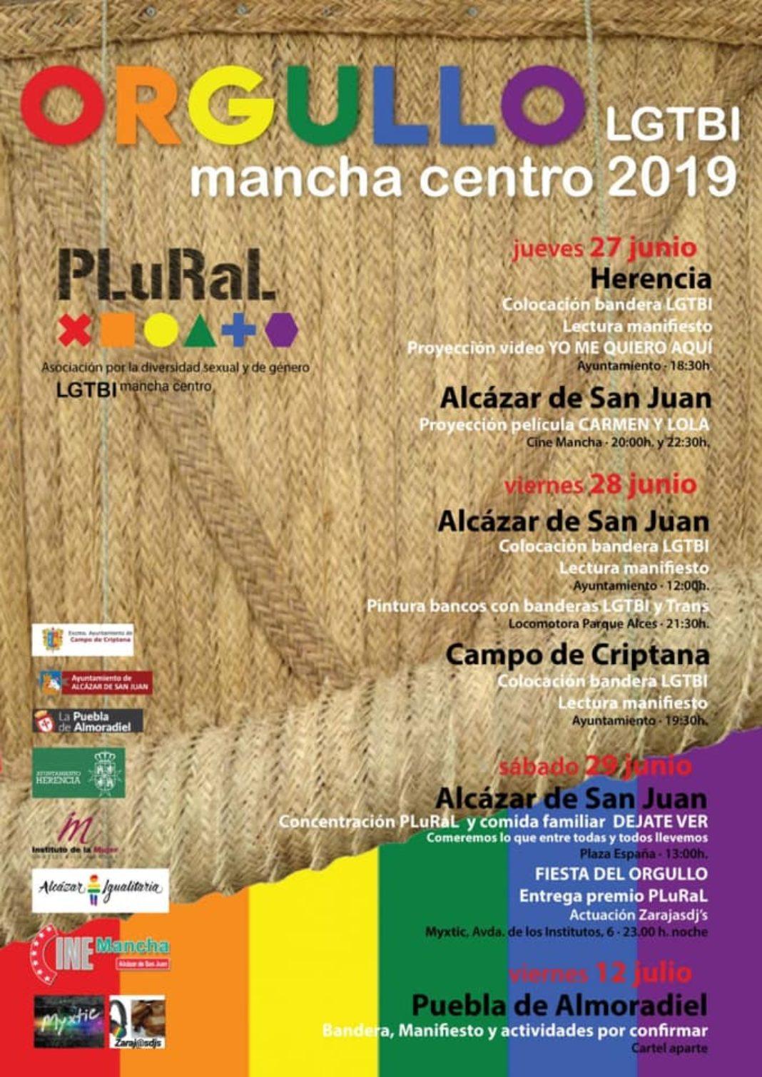 Actividades asociación PLuRaL Mancha Centro orgullo gay 1068x1510 - La bandera del Orgullo LGTBI ondeará en el ayuntamiento de Herencia