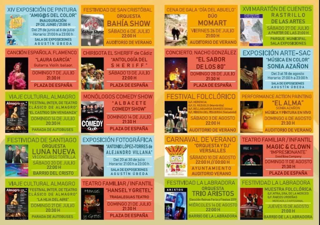 Agenda de verano Herencia 2019a - Más de treinta citas culturales de acceso libre para disfrutar del verano en Herencia