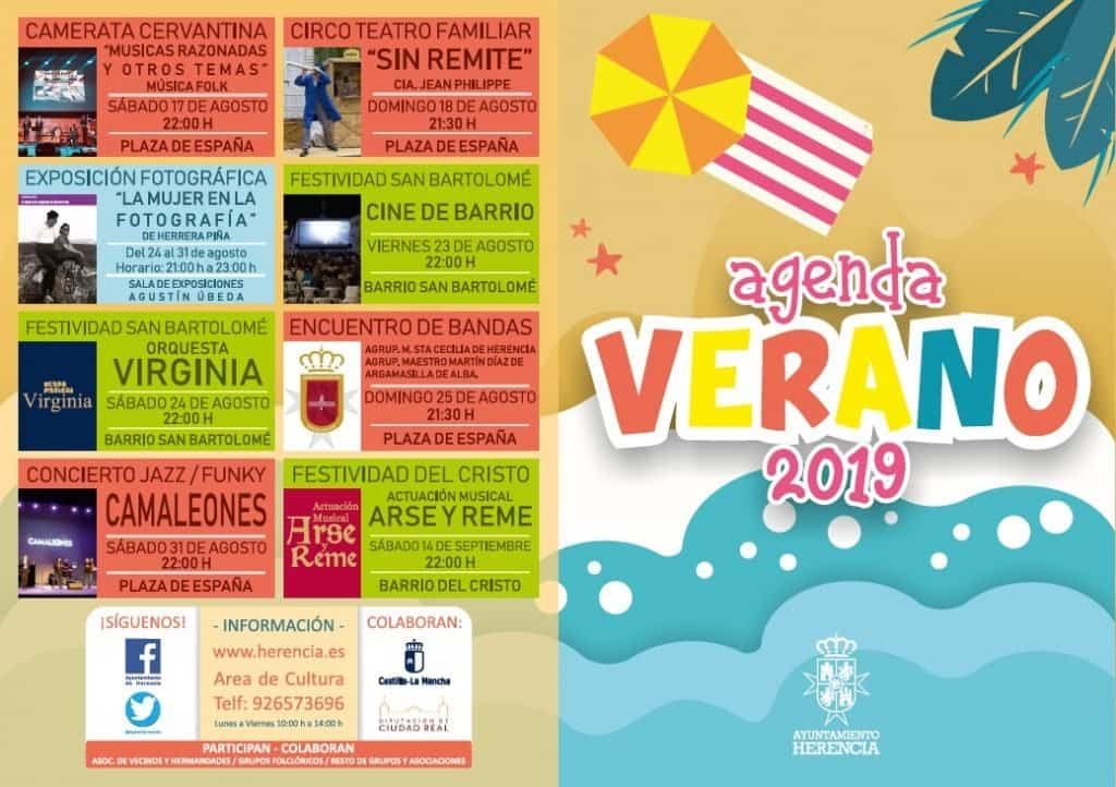 Agenda de verano Herencia 2019b 1 - Más de treinta citas culturales de acceso libre para disfrutar del verano en Herencia