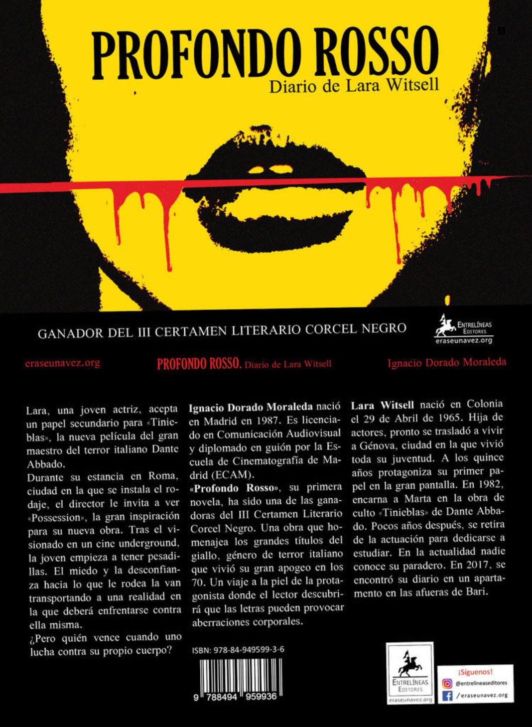 Cubierta Profondo Rosso 1068x1459 - Ignacio Dorado presenta su primera novela en Herencia de la mano de la Universidad Popular