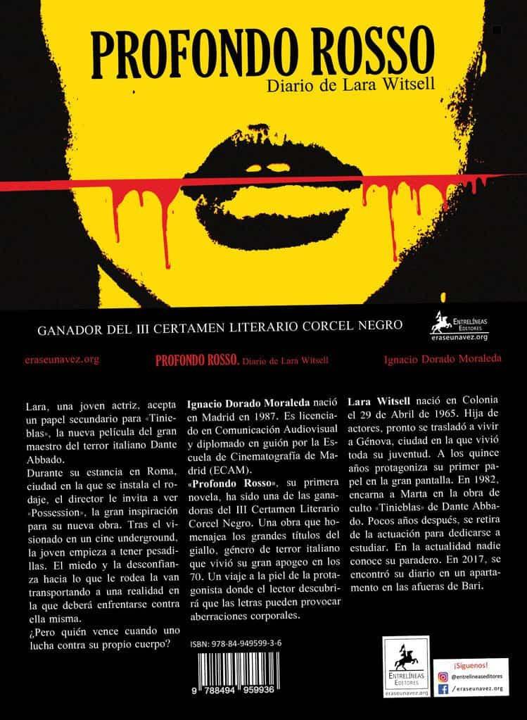 Cubierta Profondo Rosso - Ignacio Dorado presenta su primera novela en Herencia de la mano de la Universidad Popular