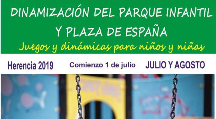 En julio comienza el programa de Dinamización del Parque Infantil y la Plaza de España