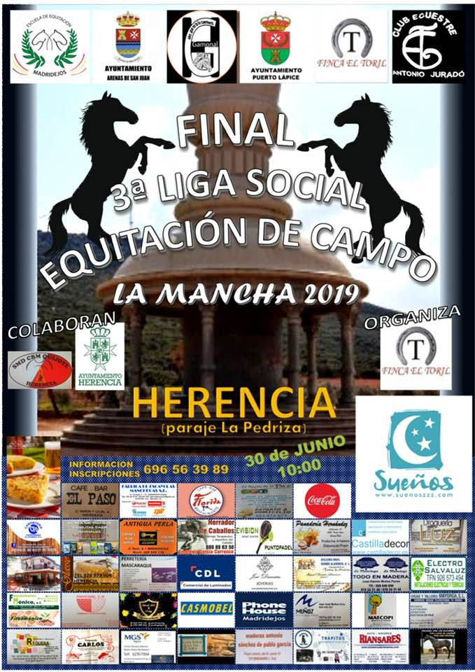 Final tercera liga social de equitación en el campo - Herencia acoge la final de la Tercera Liga Social de Equitación