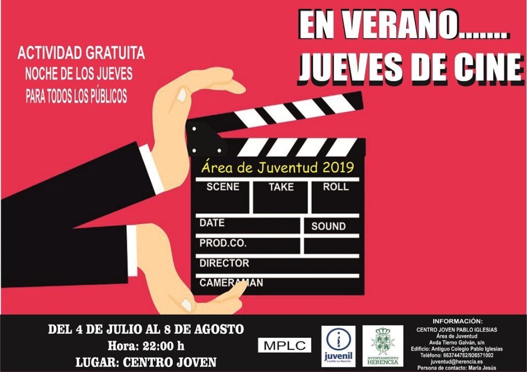 Noches de cine 2019 1068x754 - Este verano vuelven los Jueves de Cine al Centro Joven