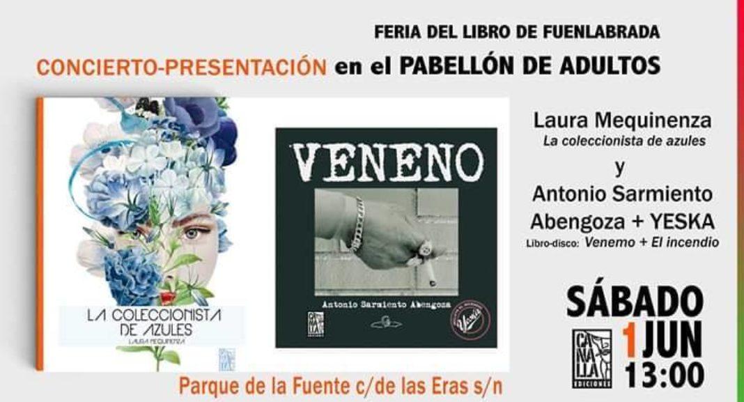 Presentación libro Veneno 1068x577 - Antonio Sarmiento Abengoza y Yeska presentan su libro-disco en la Feria del Libro de Fuenlabrada