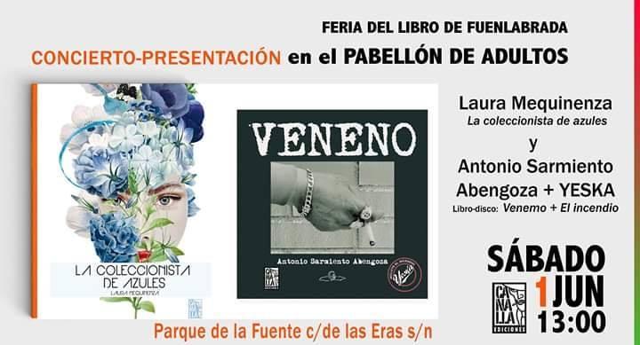 Presentación libro Veneno - Antonio Sarmiento Abengoza y Yeska presentan su libro-disco en la Feria del Libro de Fuenlabrada
