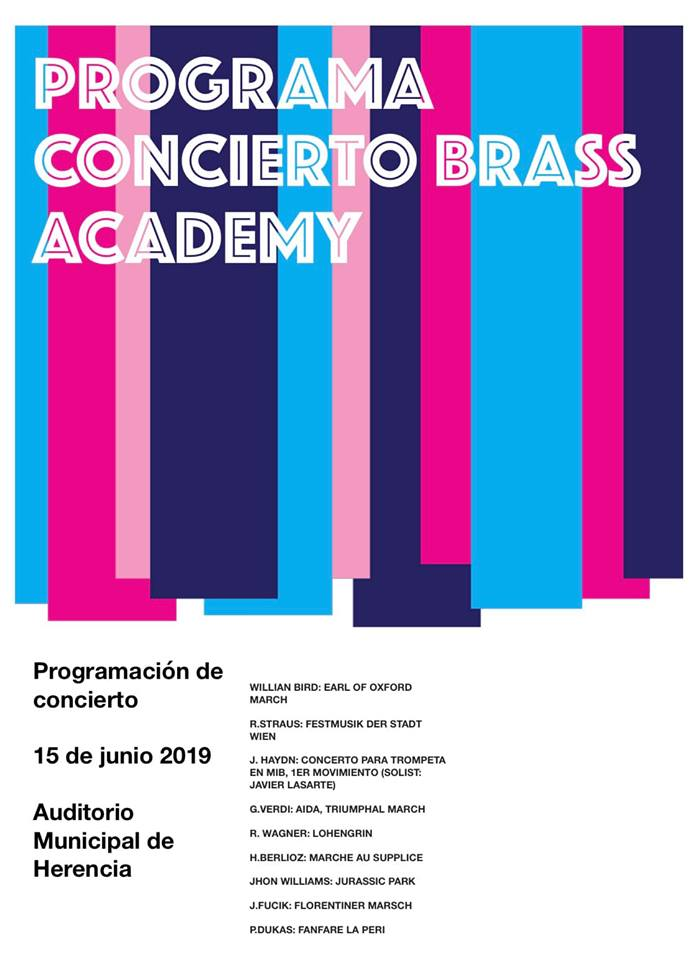 Programación concierto Brass Academy Alicante - Herencia acoge un concierto de la Brass Academy Alicante