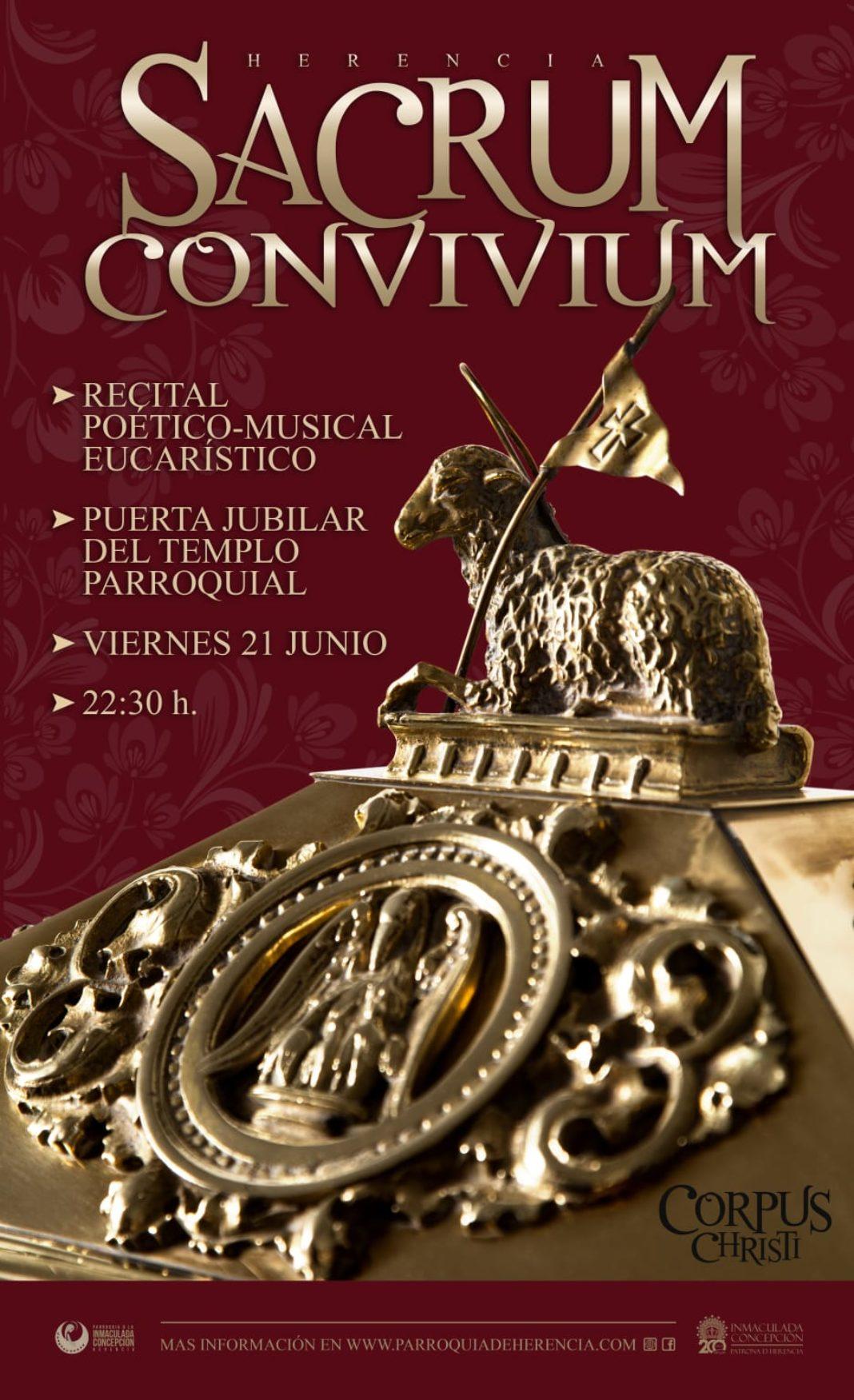 Recital poético musical eucarístico 1068x1751 - La parroquia organiza un recital poético-musical eucarístico