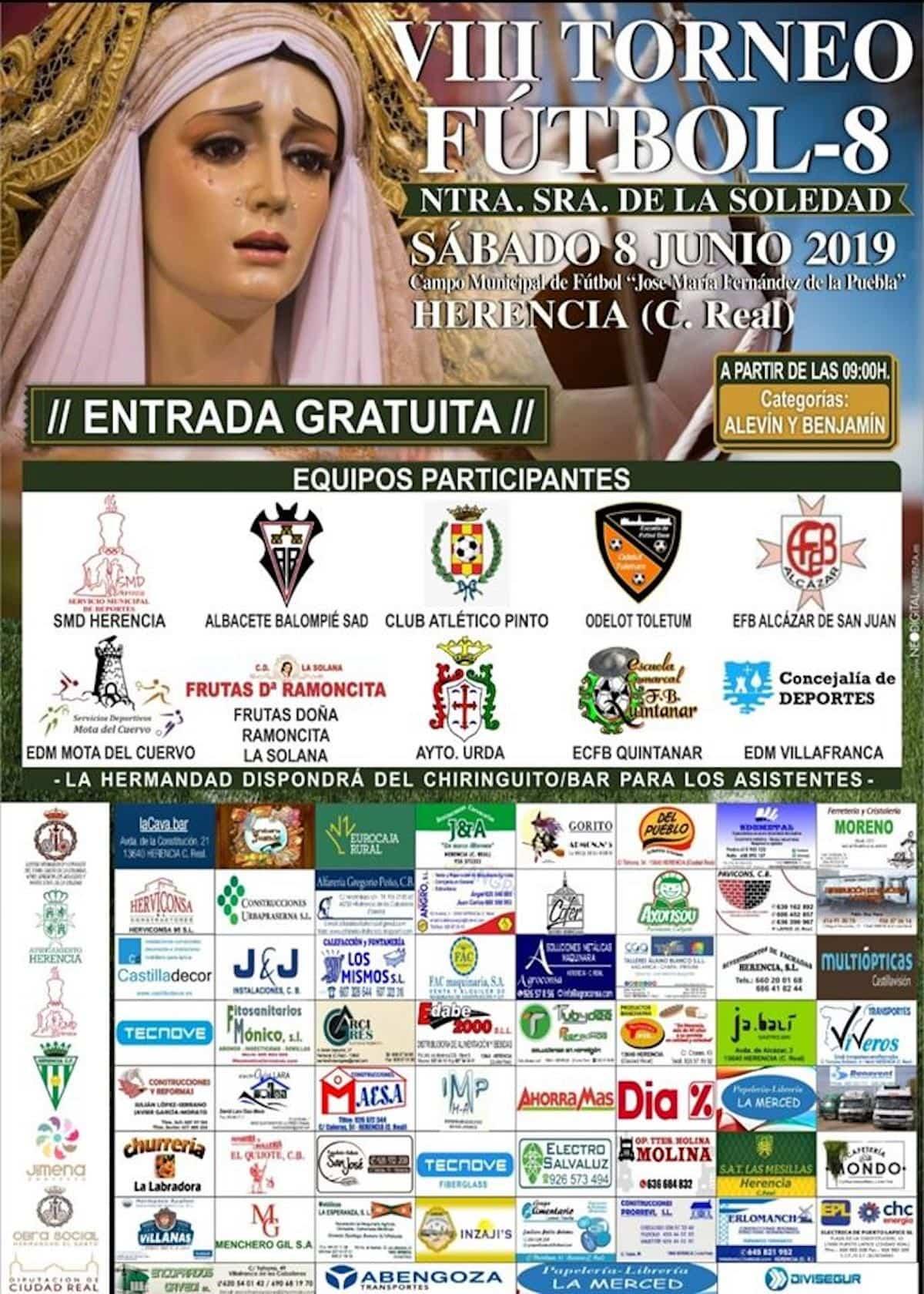 """VIII torneo futbol 8 herencia cartel - Más de 300 chavales se dieron cita en el VIII Torneo de Fútbol-8 """"Virgen de la Soledad"""""""
